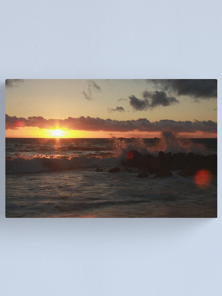 Alternate view of Sunset at Burns Beach Canvas Print