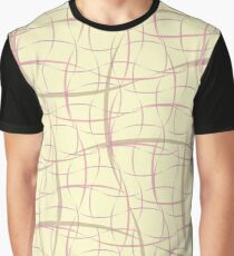 The Abstract Beige Pattern. A Wicker Structure Texture. Graphic T-Shirt