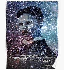 Tesla Quote Star Mind Poster Poster
