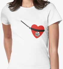 Heart on leash good boy love slave heart taken Valentines T-Shirt