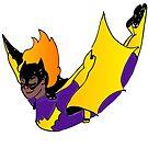 Bat Girl Leap (dark skin) by Sophersgreen