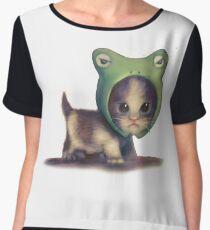 hey kitty kitty! Women's Chiffon Top