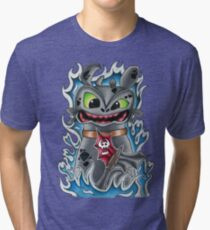 Toothless How To Train Your Dragon Tri-blend T-Shirt