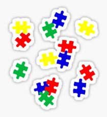 Jigsaw Puzzle Pieces Sticker