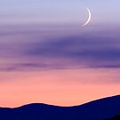 Waxing Crescent Moon by Kevin Skinner