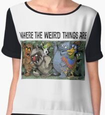 Where the Weird Things Are Women's Chiffon Top