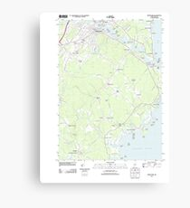 Maine USGS Historical Map Biddeford 20110830 TM Canvas Print