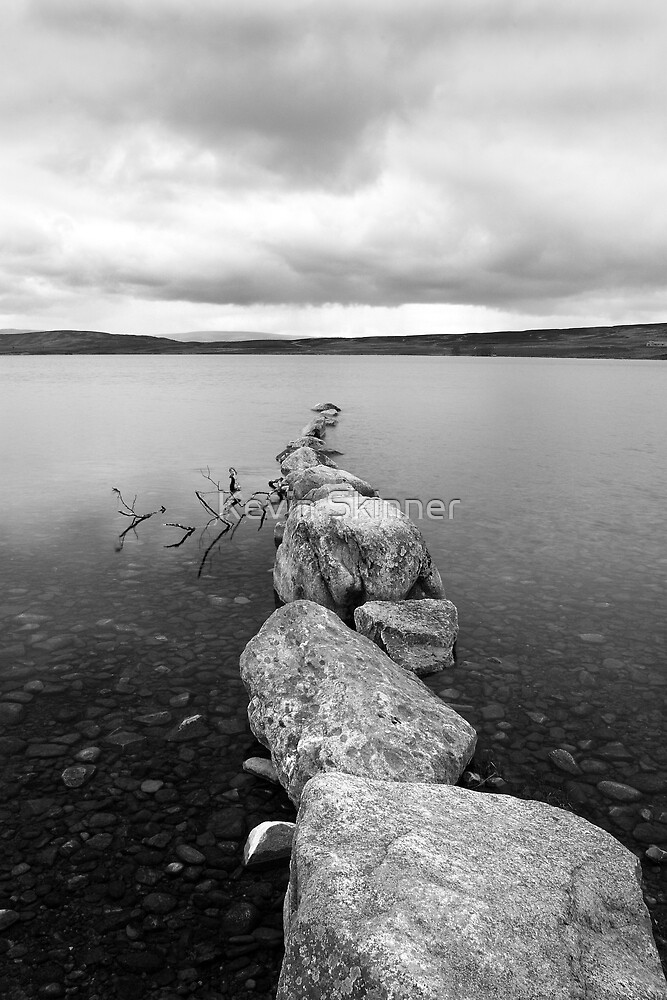 Lochindorb - Line Of Stones by Kevin Skinner