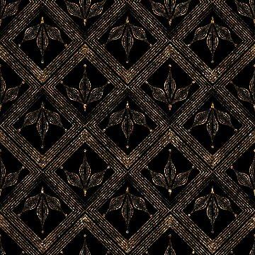 Geometric ornament gold seamless pattern by fuzzyfox