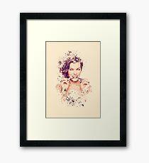 Milla Jovovich splatter painting Framed Print