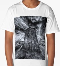 Sag Harbor Windmill With Clouds Long T-Shirt