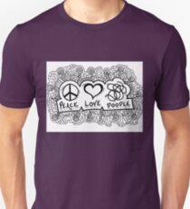 Peace, Love, Doodle T-Shirt