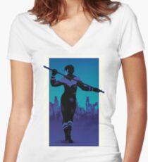 City Boy Women's Fitted V-Neck T-Shirt