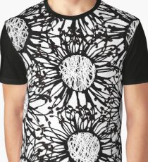 Black and white Grevillea  Graphic T-Shirt