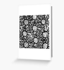 Black and white Grevillea  Greeting Card