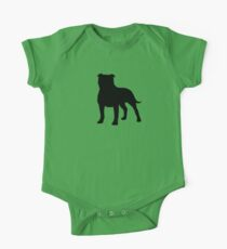 Staffordshire Bull Terrier Silhouette(s) One Piece - Short Sleeve