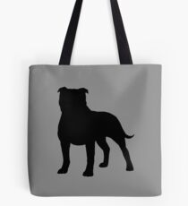 Staffordshire Bull Terrier Silhouette(s) Tote Bag