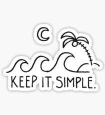 keep it simple beach Sticker