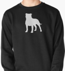 Staffordshire Bull Terrier Silhouette(s) Pullover