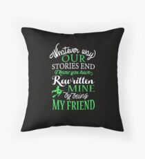 By Being My Friend Throw Pillow