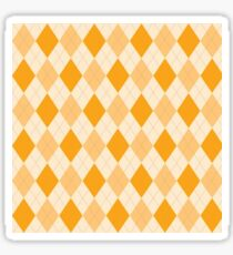 Vintage orange yellow texture Sticker