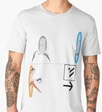 Portal 2 - Chell running from Turret to Cake Men's Premium T-Shirt