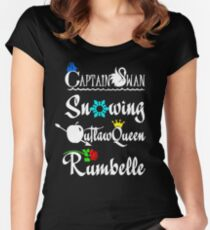ships (white text) Women's Fitted Scoop T-Shirt