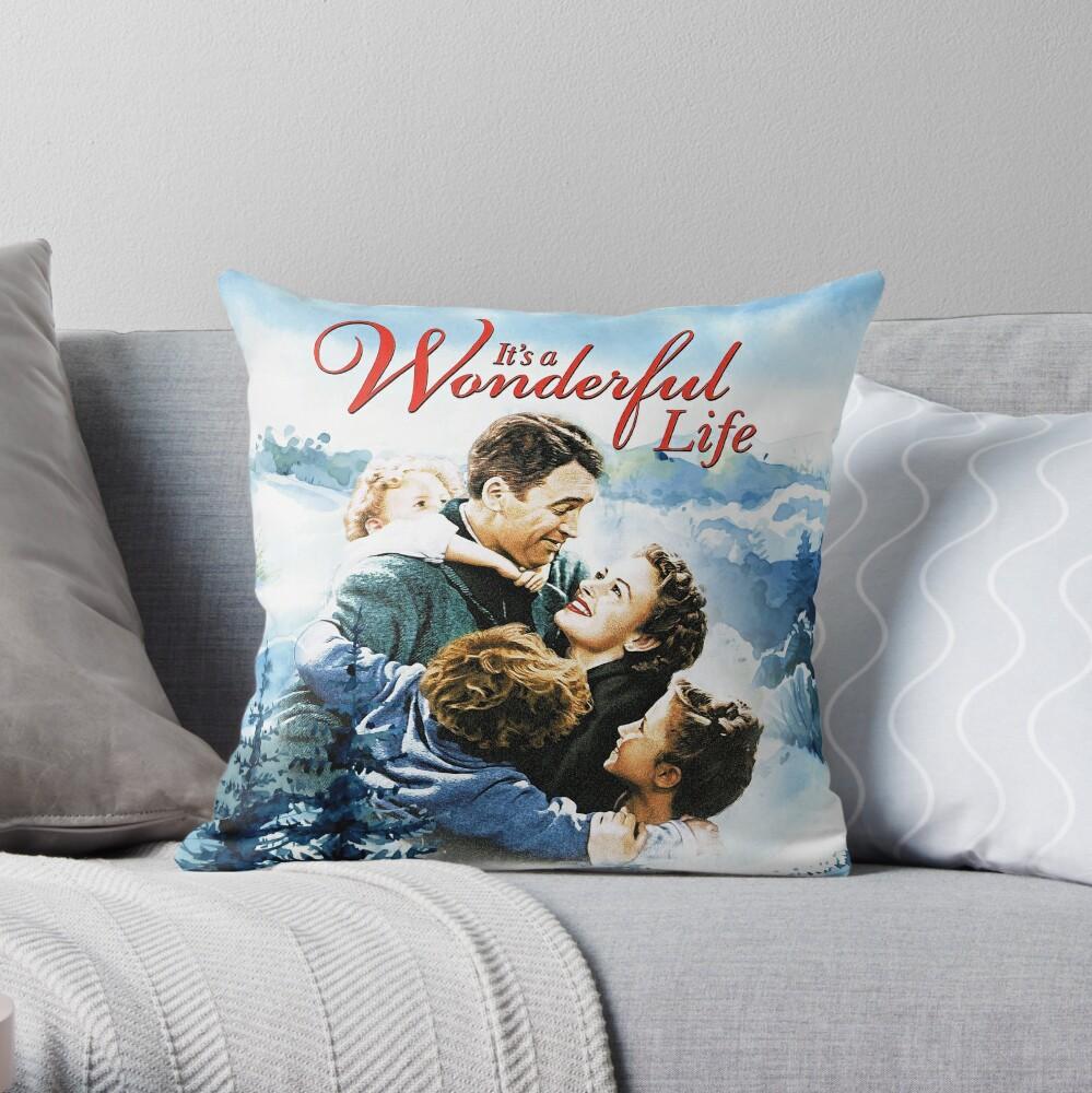 It's a Wonderful Life scene Throw Pillow