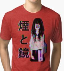 MIRRORS Sad Japanese Aesthetic Tri-blend T-Shirt