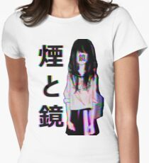 MIRRORS Sad Japanese Aesthetic Women's Fitted T-Shirt
