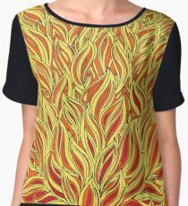 Flame and Smoke - Abstract Design Women's Chiffon Top