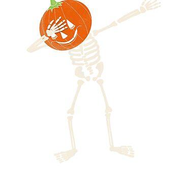 Dabbing Pumpkin, Jack'O Lantern Halloween Shirt by KnockoutTees