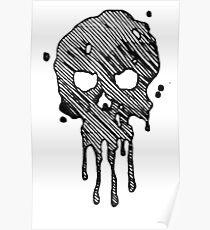 Chloe Art Dripping Skull  Poster