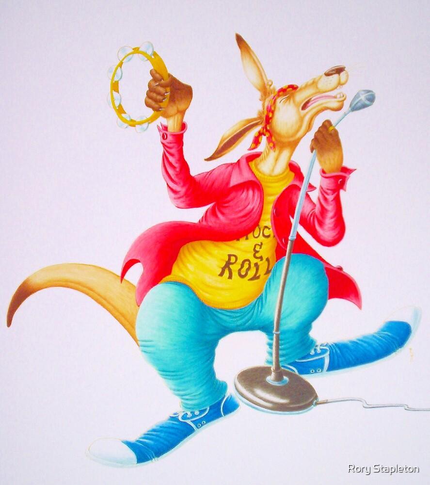 Kangaroo Rocker (Water-colour on cold press illust Board) by Rory Stapleton