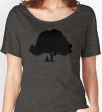 Beneath the Bodhi Tree Silhouette  Women's Relaxed Fit T-Shirt