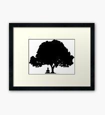Beneath the Bodhi Tree Silhouette  Framed Print