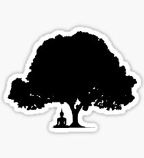 Beneath the Bodhi Tree Silhouette  Sticker