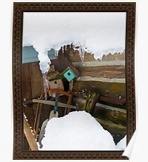 Rustic Winter Charm of Days Gone By Poster