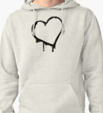 Inky Hearts Pullover Hoodie