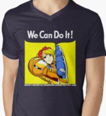 We can do it! Men's V-Neck T-Shirt