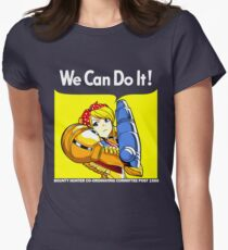 We can do it! Women's Fitted T-Shirt