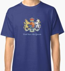 Royal Coat of Arms, Queen Elizabeth, British Monarchy Classic T-Shirt