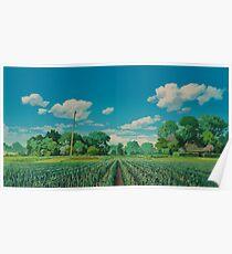Ghibli landscape Poster