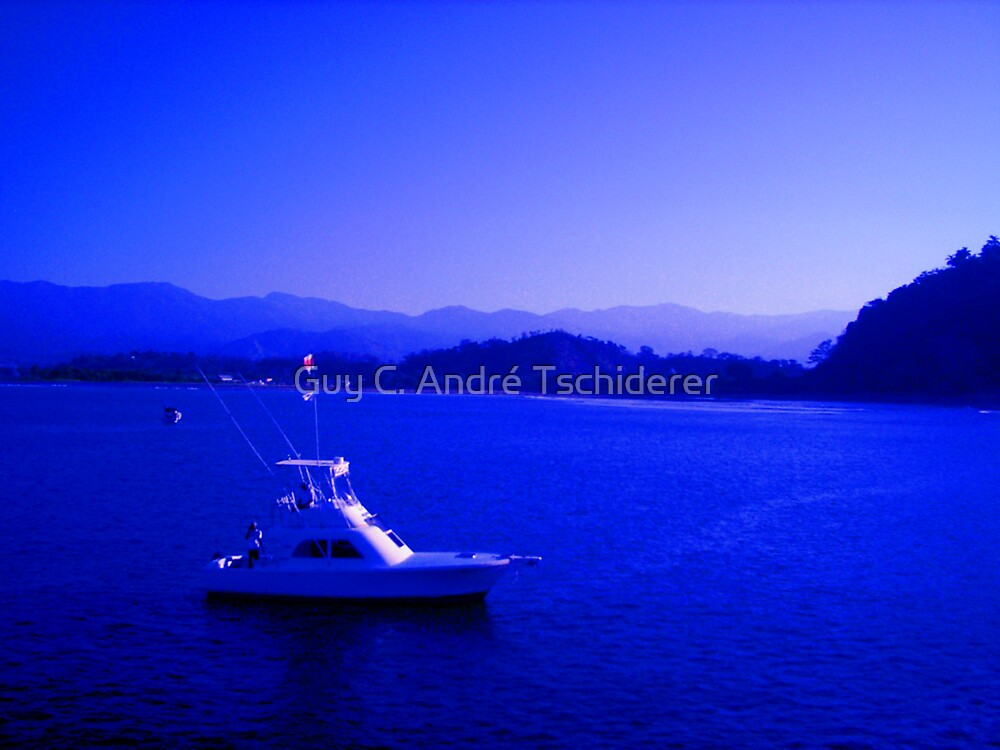 Fisherboat in Quepos by Guy C. André Tschiderer