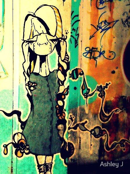 the grafitti girl by Ashley J