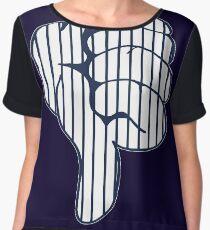 Thumbs Down New York Yankees Judge Fan Women's Chiffon Top