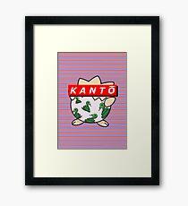 KANTŌ classic background Framed Print
