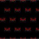 Guns and Roses Red (Pattern 2) by Adam Santana