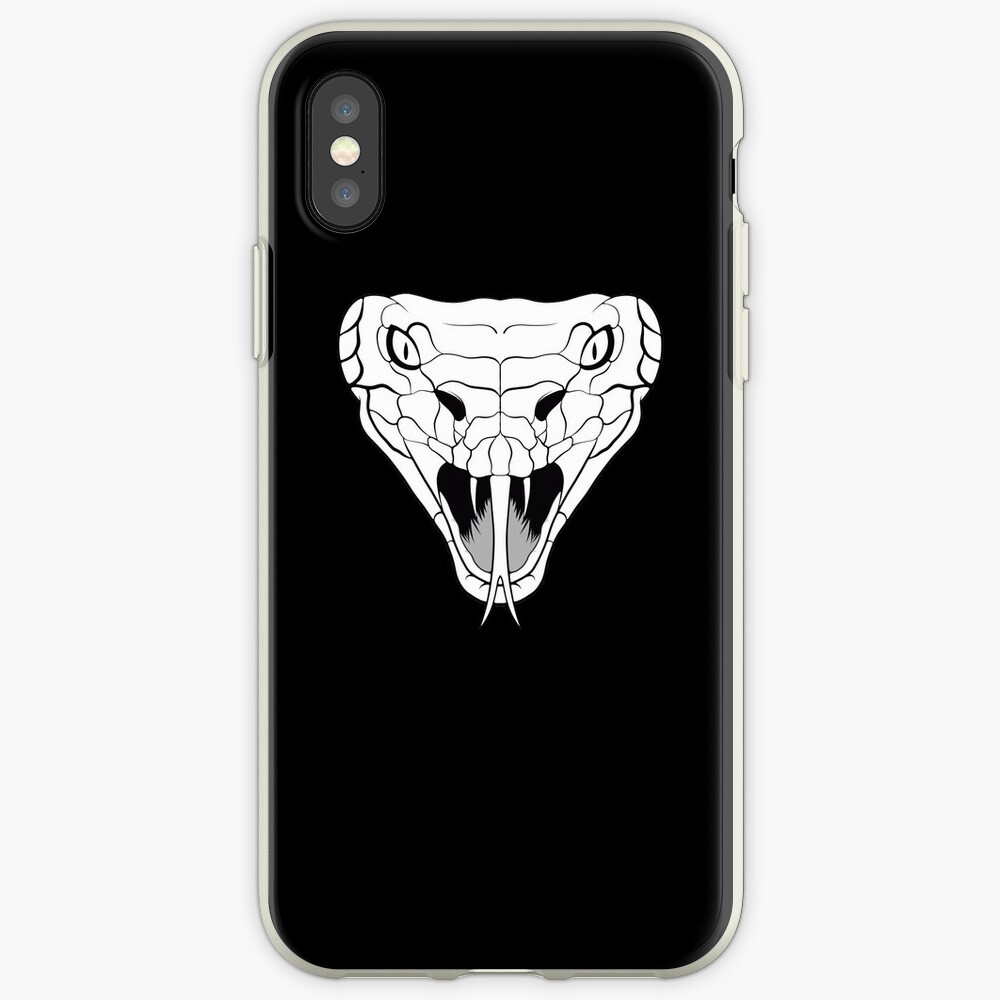 Snake head line-art iPhone Case & Cover