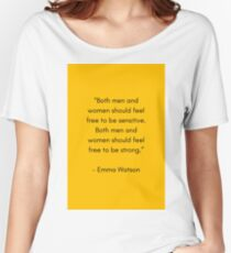 FEEL FREE TO BE SENSITIVE - FEMINIST QUOTE Women's Relaxed Fit T-Shirt